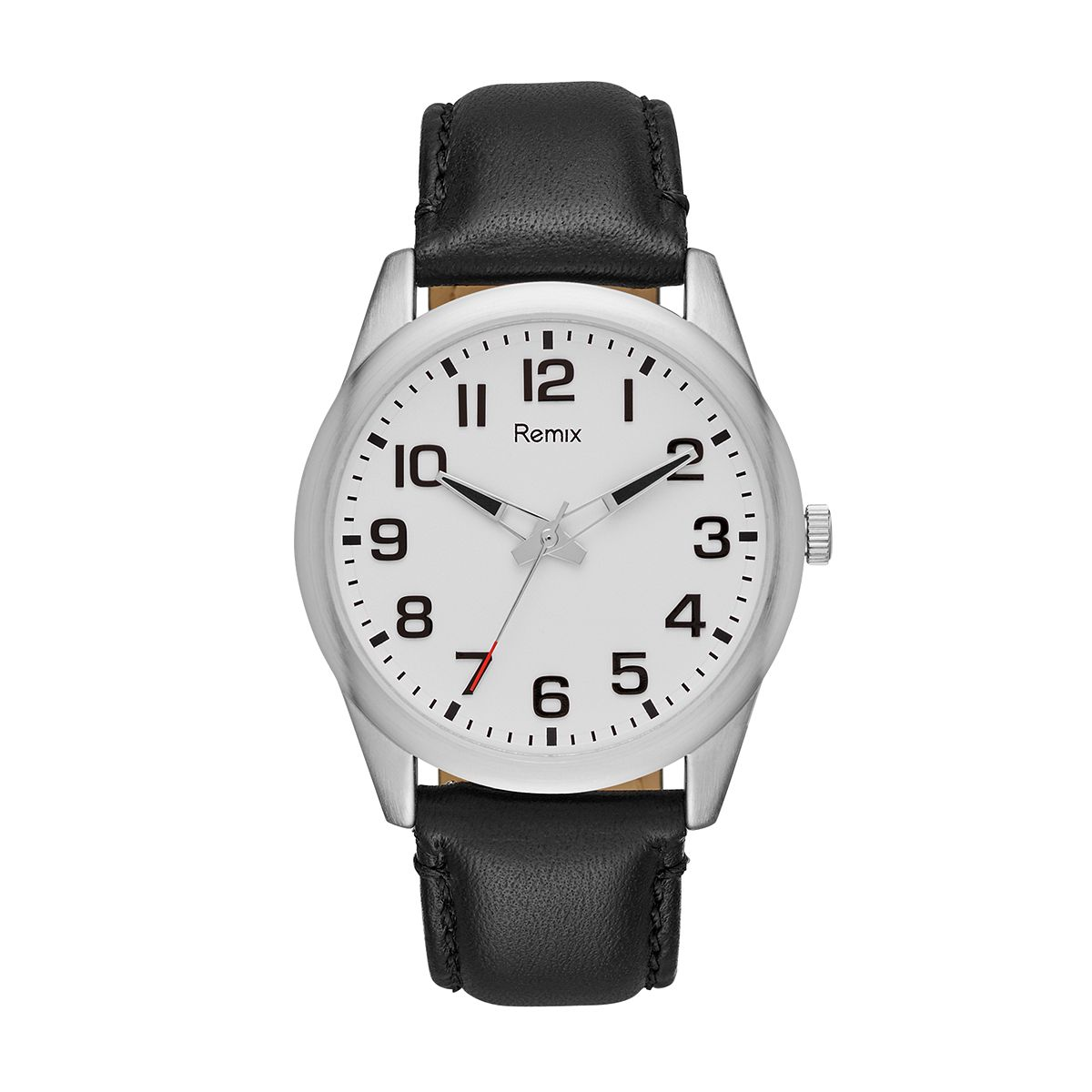 Black Leather Strap Watch  / Promotional product fully customize