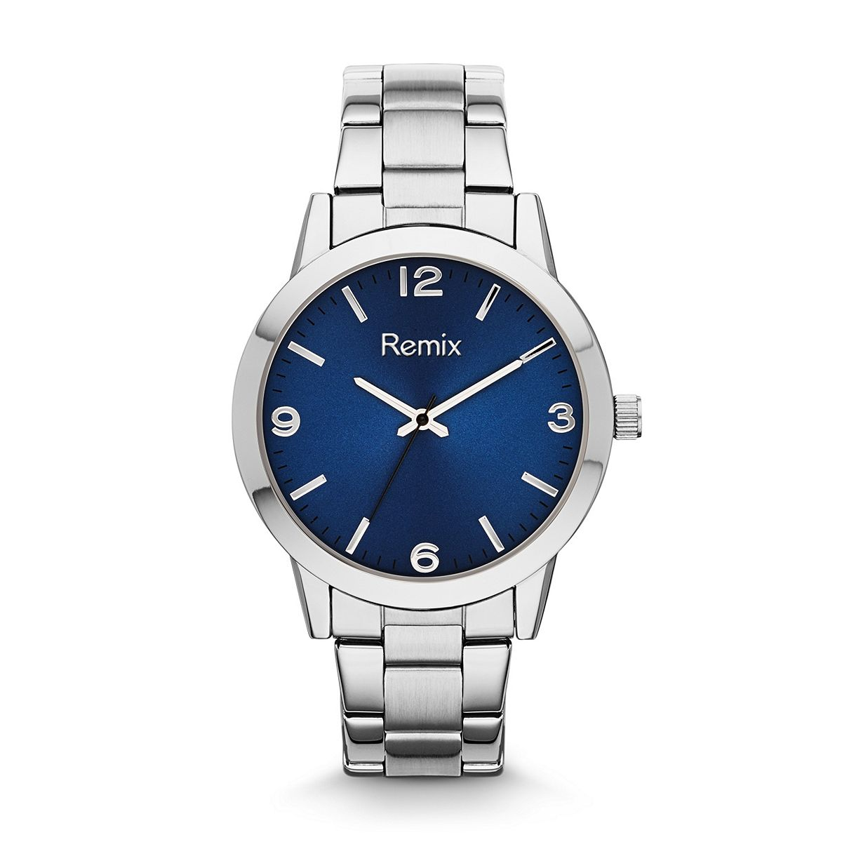 ?Classic Stainless-Steel Blue Sun-Ray Dial Bracelet / Promotiona