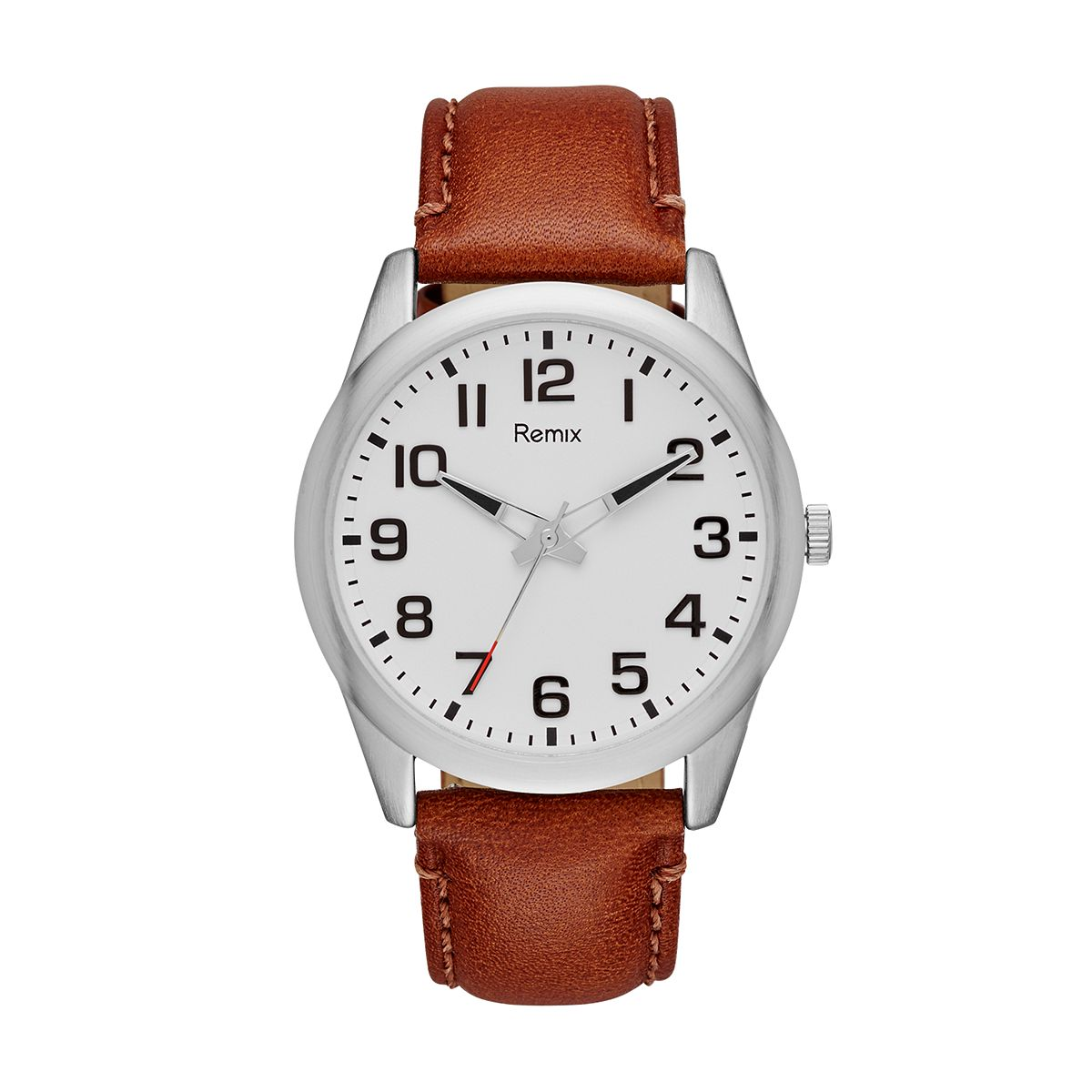 Brown Leather Strap Watch / Promotional product fully customized