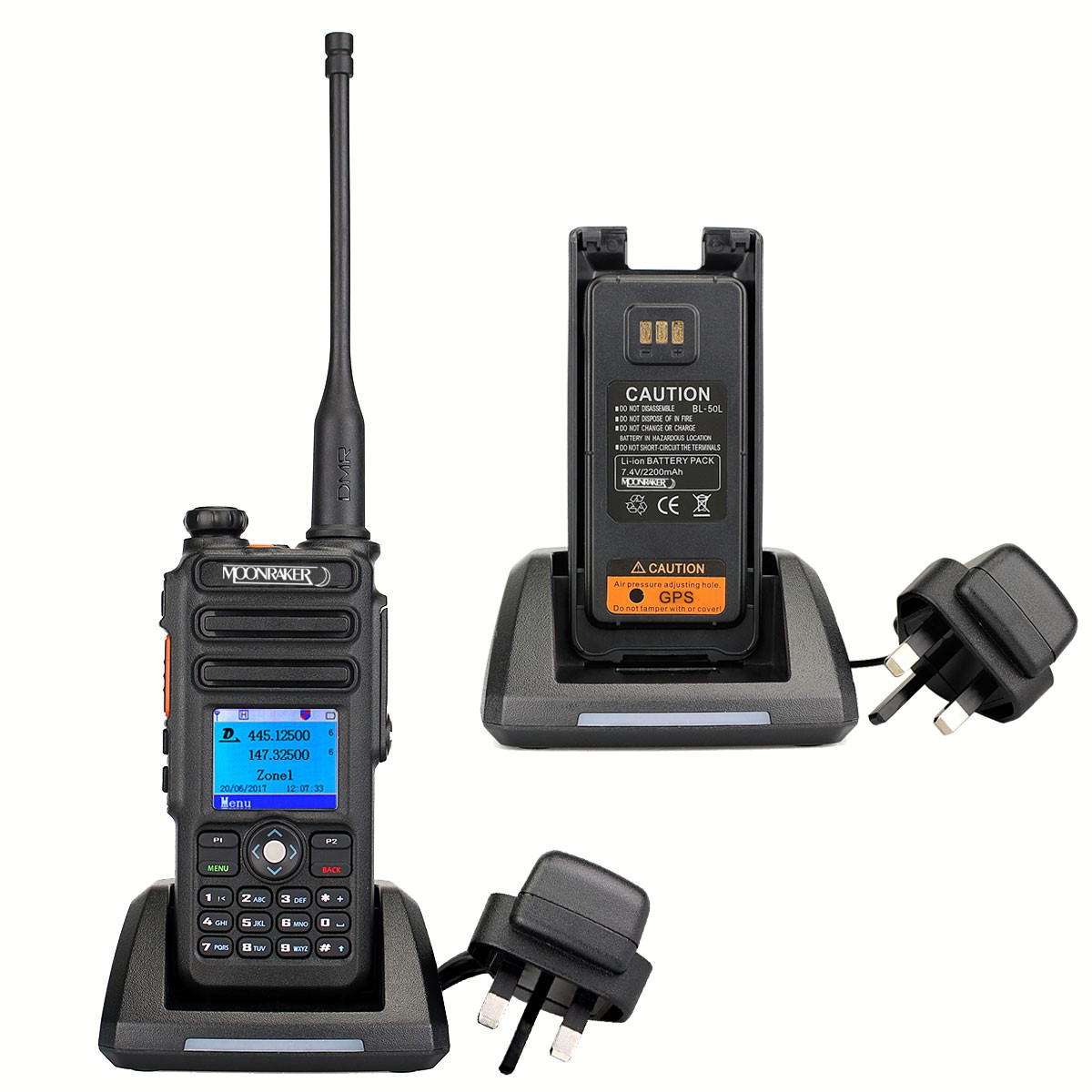Moonraker HT-500D DMR Dual Band Transceiver