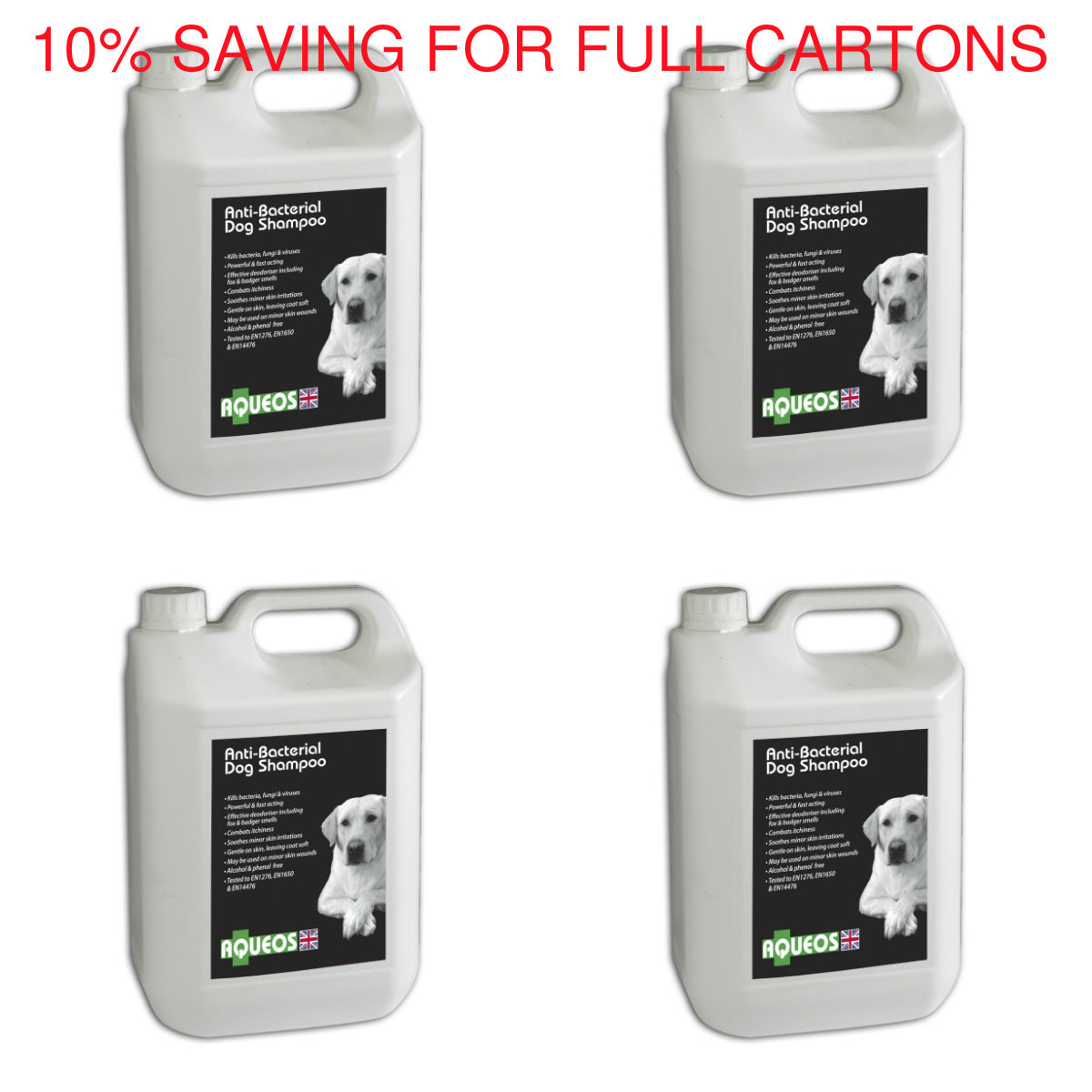 5 Litre Anti-Bacterial Dog Shampoo (4 pack)