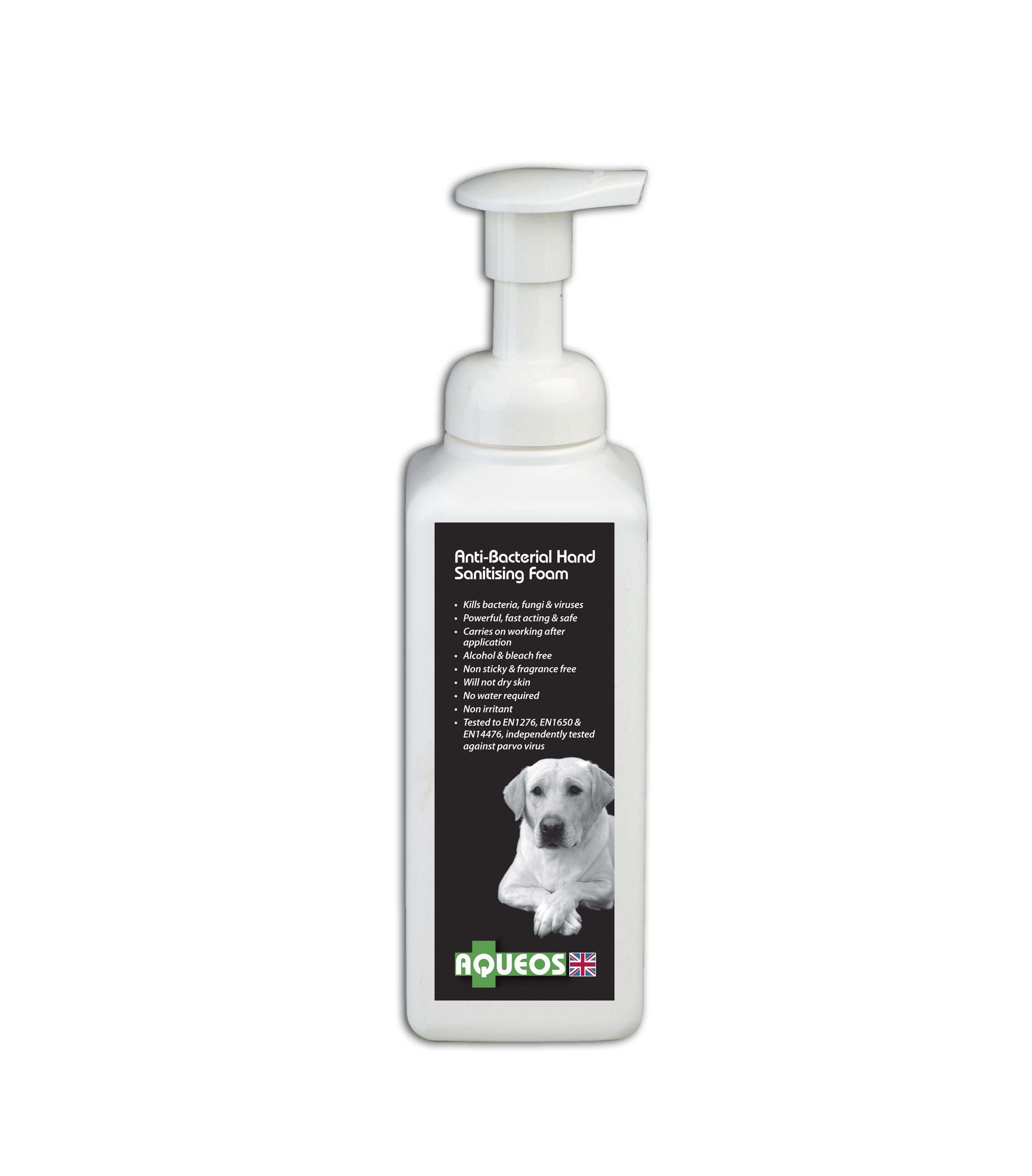 Canine Anti-Bacterial Hand Sanitising Foam 600ml AQC3002
