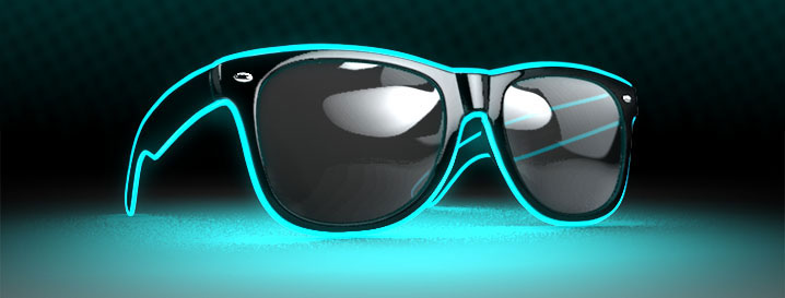 LED Sunglasses/ Promotional product fully customized  to your re