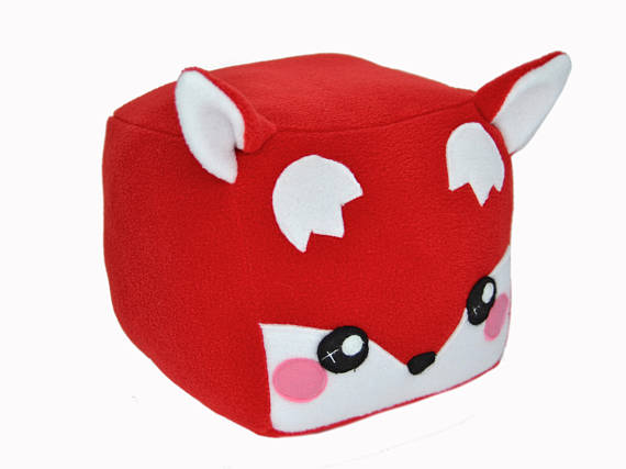 Cuboid Red Fox ?- Fully Customisable Plush