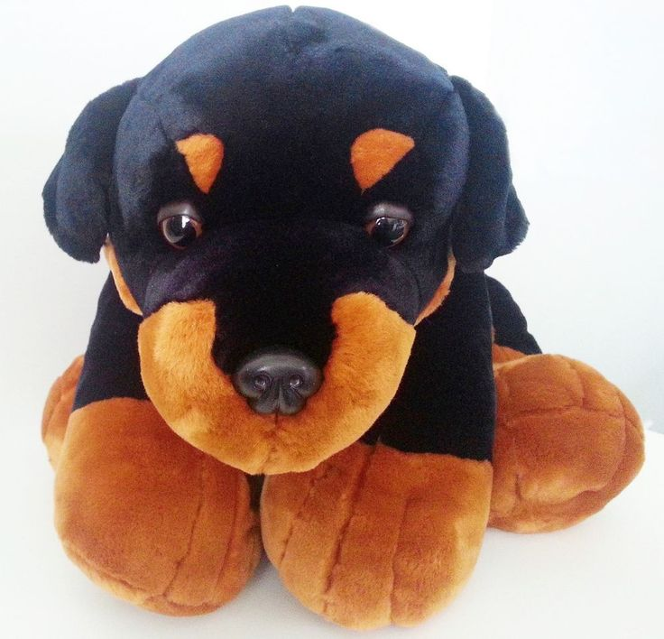 Cute Rottweiler Pup - Fully Customisble Plush