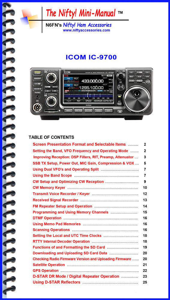 Icom IC-9700 Mini-Manual