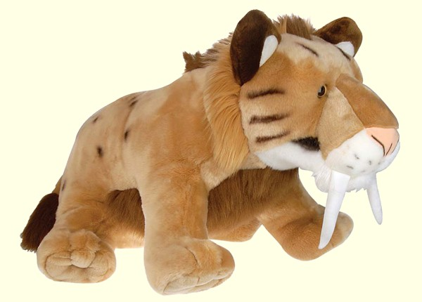 Cute Sabre Tooth Tiger - Fully Customisable Plush