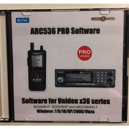 Butel ARC536 PRO Software for Uniden UBCD3600XLT