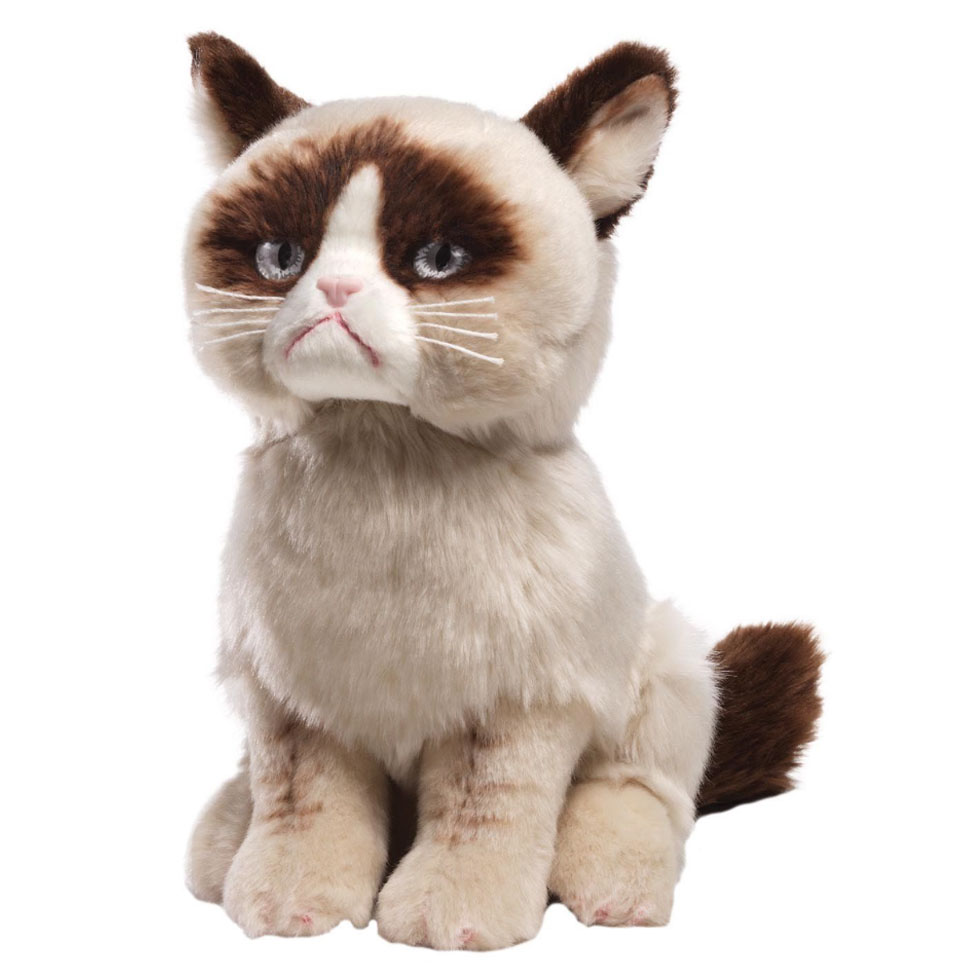Cuddly Grumpy Cat - Fully Customisable Plush