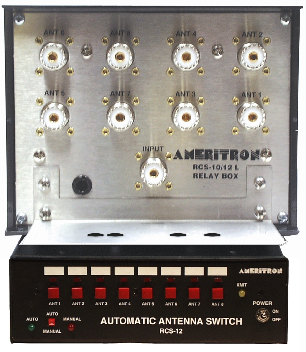 RCS-12LX  Ameritron 8-position Remote Coax Antenna switch.