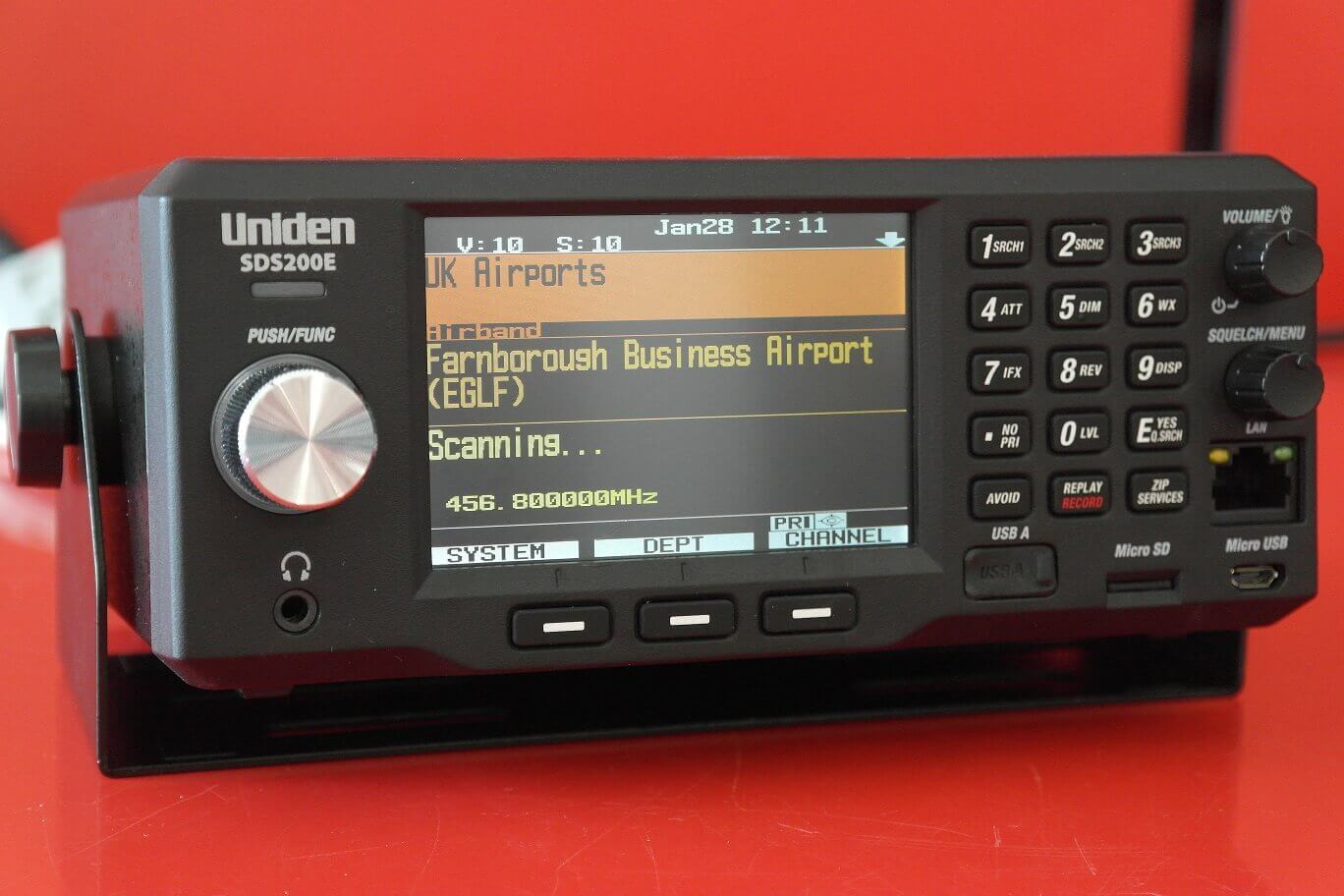 Second Hand Uniden SDS200 VHF UHF Digital Base Scanner 1