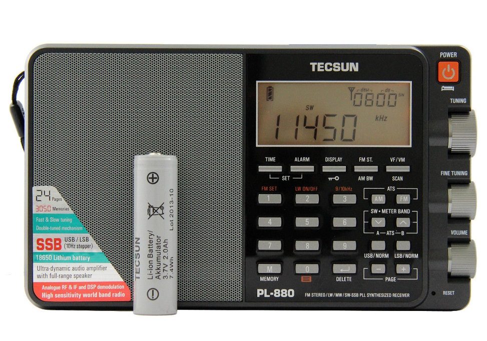 Tecsun PL-880 Portable World Band Radio With AM/FM/SSB