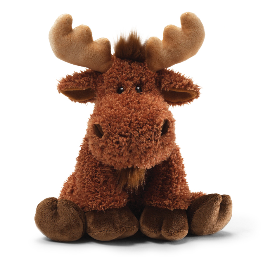 Cuddly Sitting Moose - Fully Customisable Plush