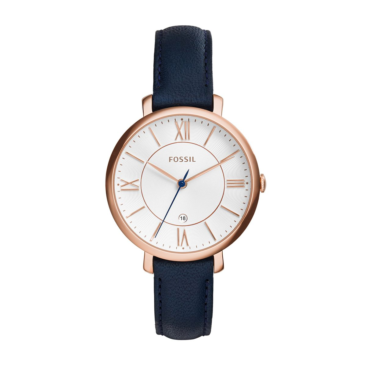 "Jacqueline ""Navy"" Leather Ladies Watch / Promotional product ful"