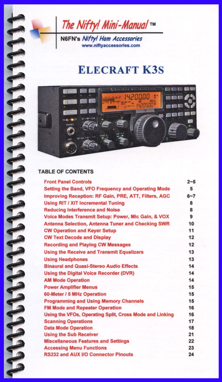 ELECRAFT K3S Nifty Mini Manual