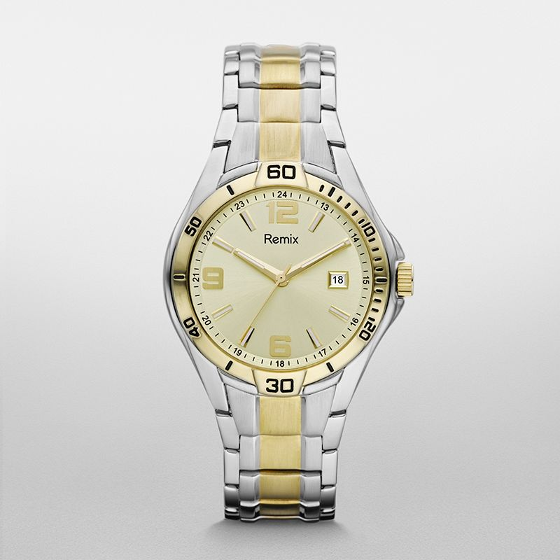 ?Sport Stainless Steel Gold Dial Watch  ?/ Promotional product f