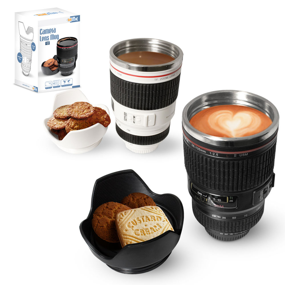Camera lens tea coffee mug / Promotional product fully customized  to your requirement UK Supplier