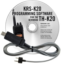 KRS-K20 Programming Software and USB-K4Y for the Kenwood TH-K20
