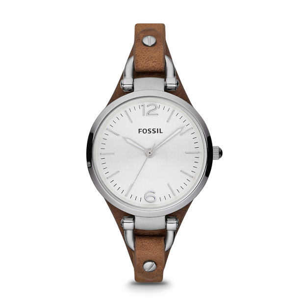 Georgia Brown Leather Ladies Watch / Promotional product fully