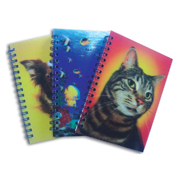 3D Holographic A5 Notebook / Promotional product fully customized  to your requirement UK Supplier