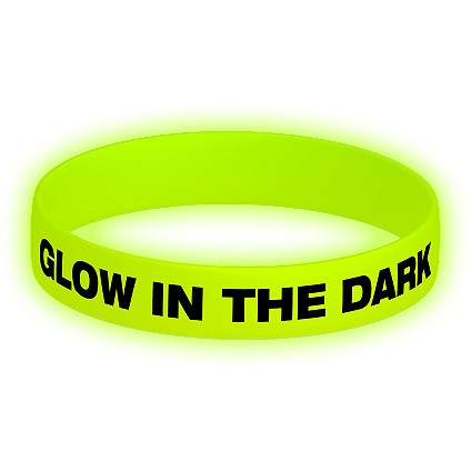 Glow In The Dark Silicone Wristbands / Promotional product