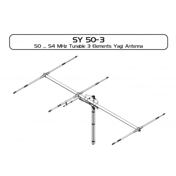 SIRIO SY50-3 - NEW HIGH GAIN 6M (50MHZ) 3 ELEMENT YAGI BEAM ANTE