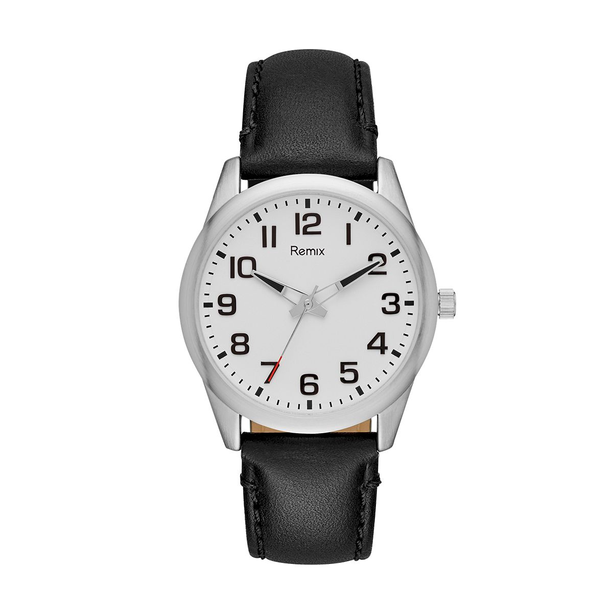 Classic Black PU Leather Watch / Promotional product fully custo