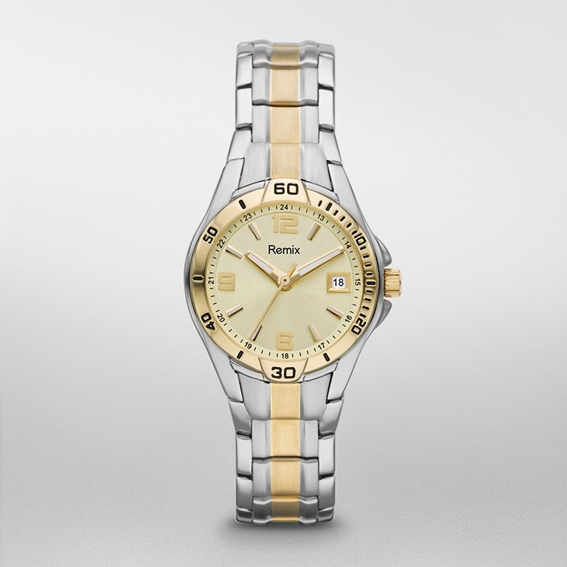 ?Sport Stainless Steel with Gold Dial   Watch /  Promotional pro