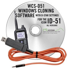 WCS-D51 Programming Software and USB-RTS05 data cable for the Ic