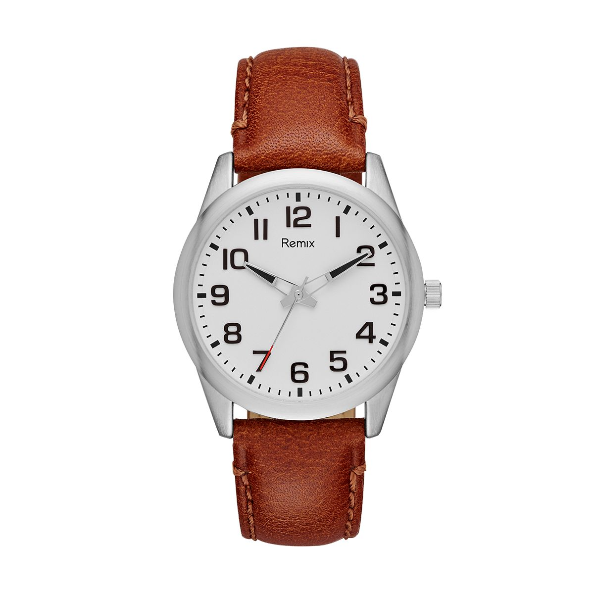 Classic Brown PU Leather Watch / Promotional product fully custo