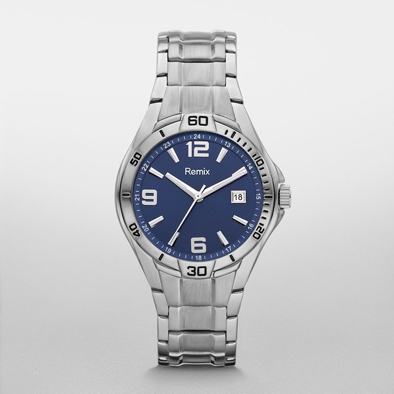 ?Sport Stainless Steel Blue Dial Watch  ?/ Promotional product f
