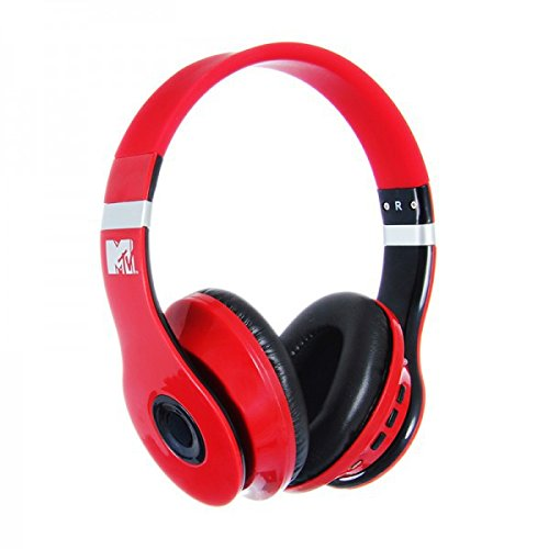 MTV Bluetooth Headphones - Red/Black