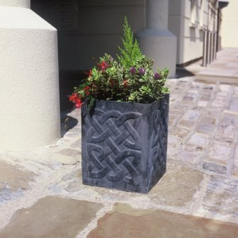 Celtic Square Knotwork Lead Planters