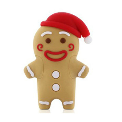 Christmas Ginger Bread Man USB Flash Drive, Memory Key / Promotional product fully customized  to your requirement UK Supplier