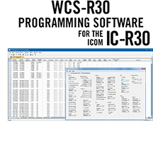 WCS-R30 Programming Software and RT-49 cable for the Icom IC-R30