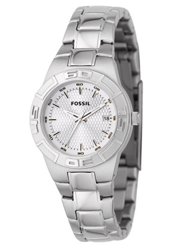 Classic Sport Silver Dial Watch For Ladies / Promotional product