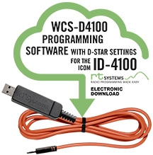 WCS-D4100 Programming Software and USB-RTS05 data cable for the