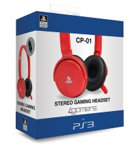4Gamers PS3 CP-01 Stereo Gaming Headset Red