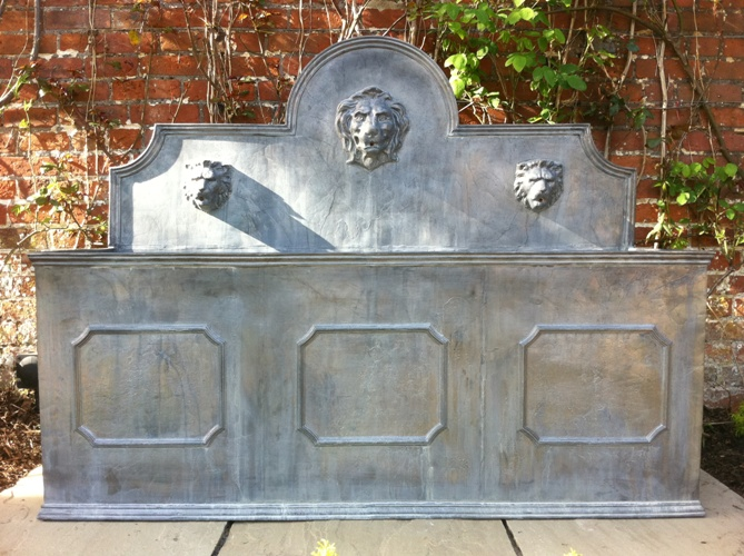 Frensham 3 Panel Lead Fountain with Lions