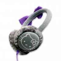 Hello Kitty Earmuff Headphones (Grey)
