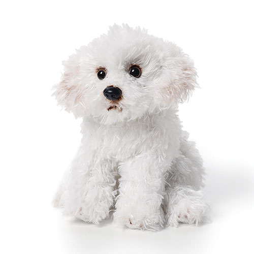 Cute Sitting Bichon Frise- Fully Customisable Plush