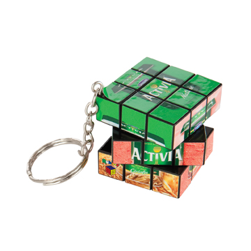 Mini Rubik's Cube Keyring / Promotional product fully customized  to your requirement UK Supplier