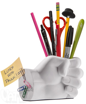 Hand style Desk Tidy / Promotional product fully customized  to your requirement UK Supplier