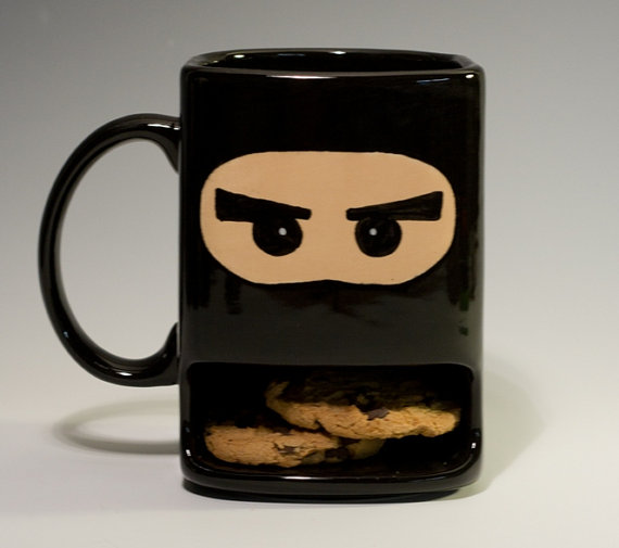 Ninja Tea / Coffee Mug With Biscuit Holder / Promotional product fully customized  to your requirement UK Supplier