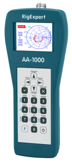 RigExpert AA-1000 - Antenna Analyzer (0.1 to 1000 MHz)