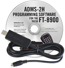 ADMS-2H Programming Software and USB-29B cable for the Yaesu FT-