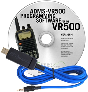 ADMS-3 Programming Software and USB-29A cable for the Yaesu VR-5