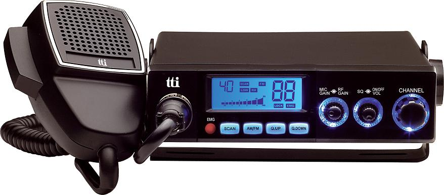 TCB-770 CB Radio Silver front