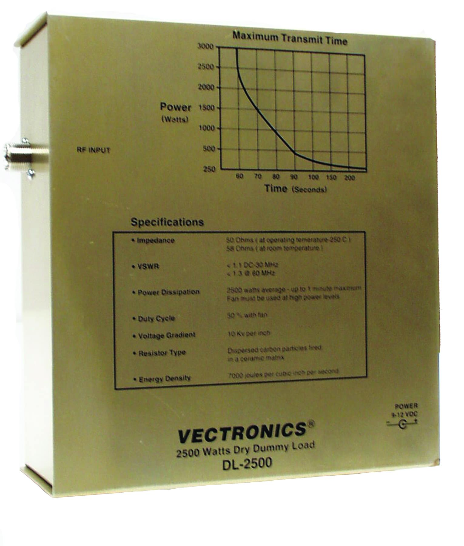DL-2500 Vectronics 2.5kW Dummy Load (SO-239)