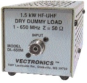 DL-650M Vectronics 1.5kW Dummy Load (SO-239)
